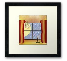 A Warm Winter Refuge - Dreamcatcher and Candle Flame Framed Print