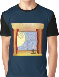 A Warm Winter Refuge - Dreamcatcher and Candle Flame Graphic T-Shirt
