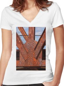 Rusty Women's Fitted V-Neck T-Shirt