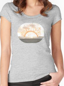 sunset. Women's Fitted Scoop T-Shirt