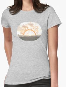 sunset. Womens Fitted T-Shirt