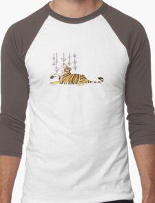 Paper Crane Tiger Men's Baseball ¾ T-Shirt