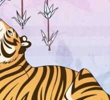 Paper Crane Tiger Sticker