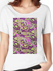 PAISLEY PURPLES Women's Relaxed Fit T-Shirt