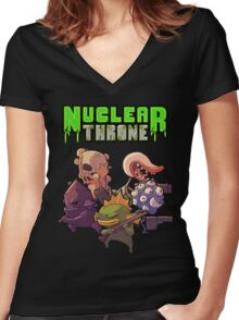 Nuclear Throne All Char Women's Fitted V-Neck T-Shirt