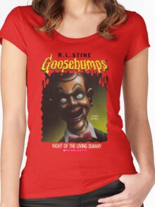 Goosebumps - Night of The Living Dummy Women's Fitted Scoop T-Shirt