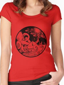 The beautiful sea Women's Fitted Scoop T-Shirt