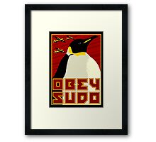 Obey SUDO Framed Print