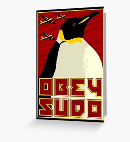Obey SUDO Greeting Card