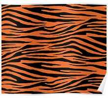 0212 Deep Carrot Orange Tiger Poster