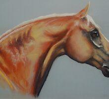 palomino horse by opheliasfiction