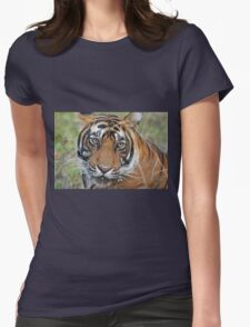 Tiger Portrait Womens Fitted T-Shirt
