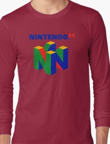 Nintendo 64 N64 Classic Video Game Long Sleeve T-Shirt