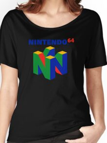 Nintendo 64 N64 Classic Video Game Women's Relaxed Fit T-Shirt