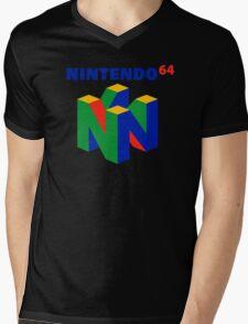 Nintendo 64 N64 Classic Video Game Mens V-Neck T-Shirt