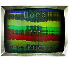 Word for Destruction Poster