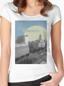 Greetings From Toronto! Women's Fitted Scoop T-Shirt