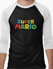 Super Mario Classic Video Games Men's Baseball ¾ T-Shirt