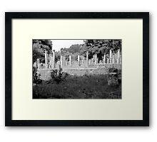Standing Pillars, Olympia, Greece Framed Print
