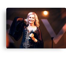 Olivia Newton-John in Concert Canvas Print