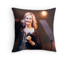 Olivia Newton-John in Concert Throw Pillow