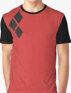 Harley Quinn black diamonds over red Graphic T-Shirt