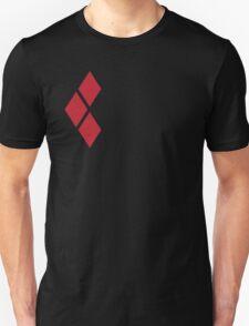 Harley Quinn Red Diamonds on Black Unisex T-Shirt
