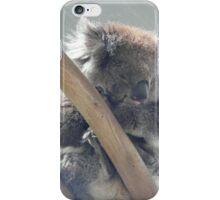 Koala sleeping iPhone Case/Skin