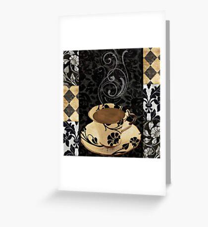 Cafe Noir Damask Greeting Card