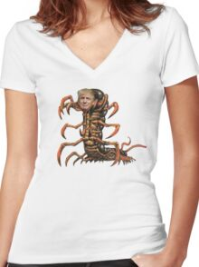 Donald Trump Centipede Women's Fitted V-Neck T-Shirt