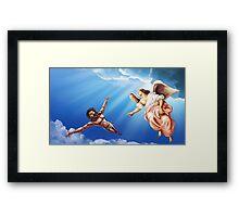 Jesus Ascending to Heaven Framed Print