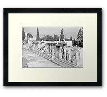 Sculpture, Theatre of Herodes Atticus, Athens Framed Print