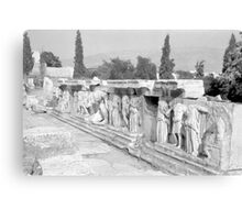 Sculpture, Theatre of Herodes Atticus, Athens Canvas Print