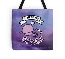 Introvert space galaxy awkward teen tumblr snapchat sticker print Tote Bag