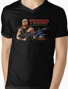 Rambo Trump Mens V-Neck T-Shirt