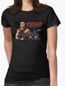 Rambo Trump Womens Fitted T-Shirt
