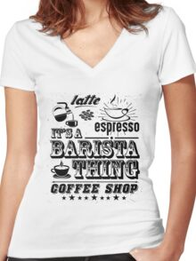 I am a  Proud Barista Women's Fitted V-Neck T-Shirt