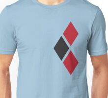 Red and Black Tri-diamonds Unisex T-Shirt