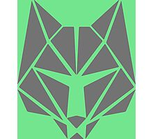 Polygon Wolf Photographic Print