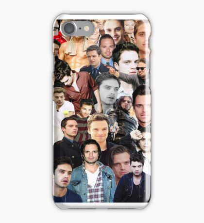 Sebastian Stan Collage  iPhone Case/Skin
