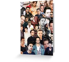 Sebastian Stan Collage  Greeting Card