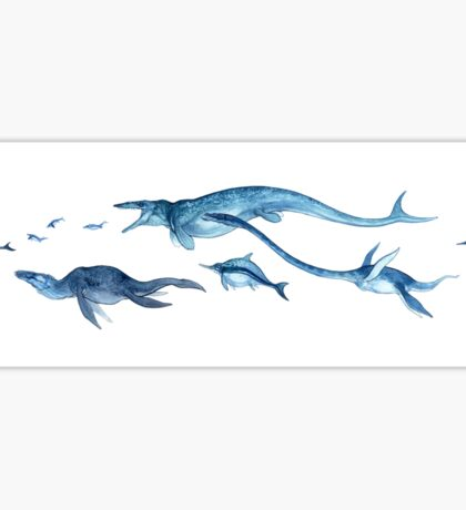 marine reptiles Sticker