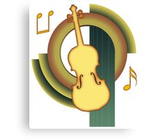 Deco Violin Canvas Print