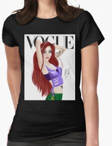 Red Head Princess of the Sea Womens Fitted T-Shirt