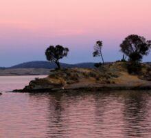 Little Island at sunset Sticker