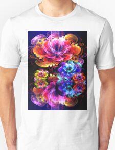 dreamy 3d bloom water garden Unisex T-Shirt
