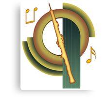 Deco Oboe Canvas Print