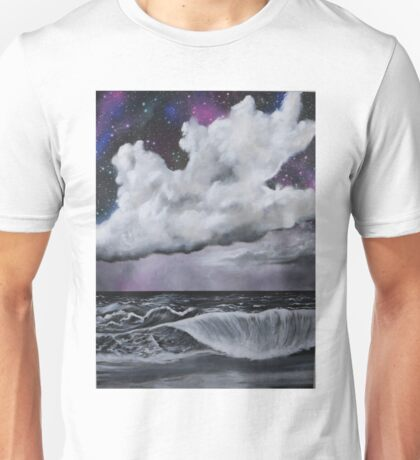 Sea in black and white Unisex T-Shirt