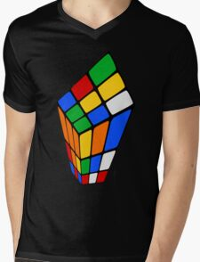 Surreal Rubik's Mens V-Neck T-Shirt