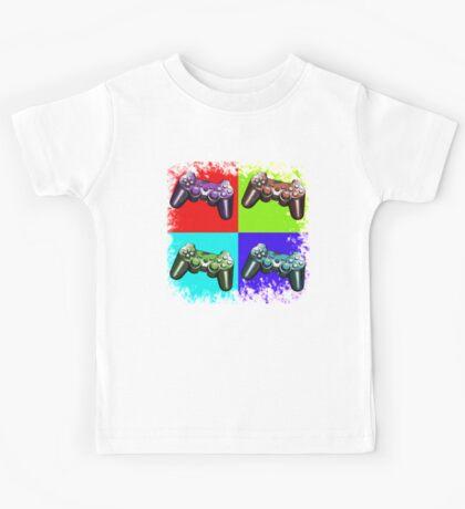 Game Controller Pop Art Kids Tee
